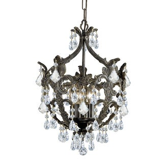 Crystorama Legacy Collection 5-light English Bronze/Crystal Mini Chandelier