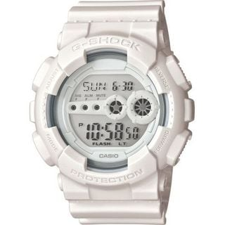 Casio Men's GD100WW-7 'G-Shock' Digital White Resin Watch
