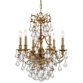 Crystorama Yorkshire Collection 6-light Aged Brass/Crystal Chandelier