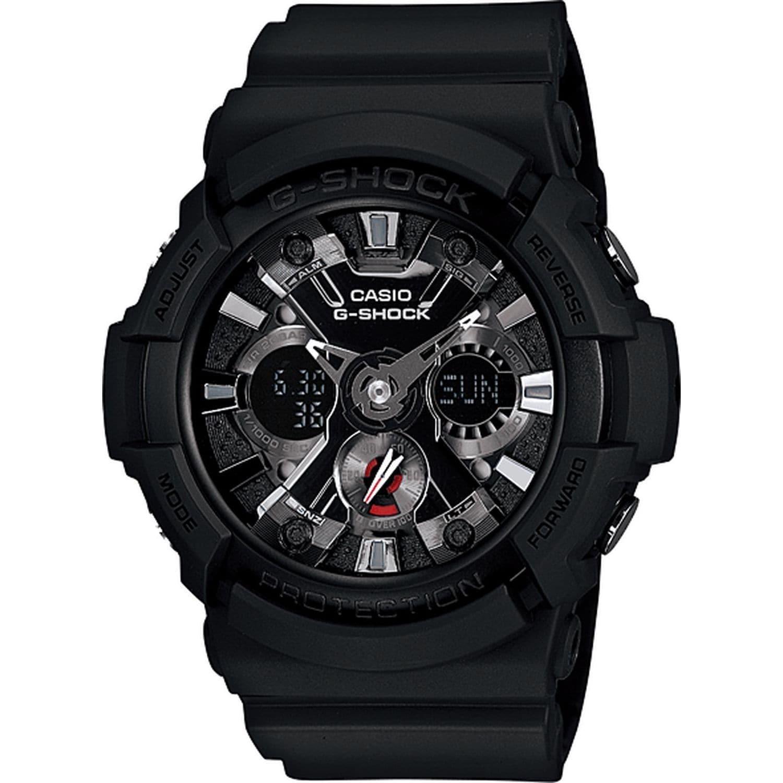Casio Men's GA201-1A 'G-Shock' Analog-Digital Black Resin...