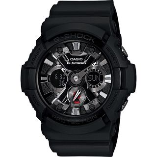 Casio Men's GA201-1A 'G-Shock' Analog-Digital Black Resin Watch
