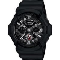 Casio Men's GA201-1A 'G-Shock' Analog-Digital Black Resin Watch