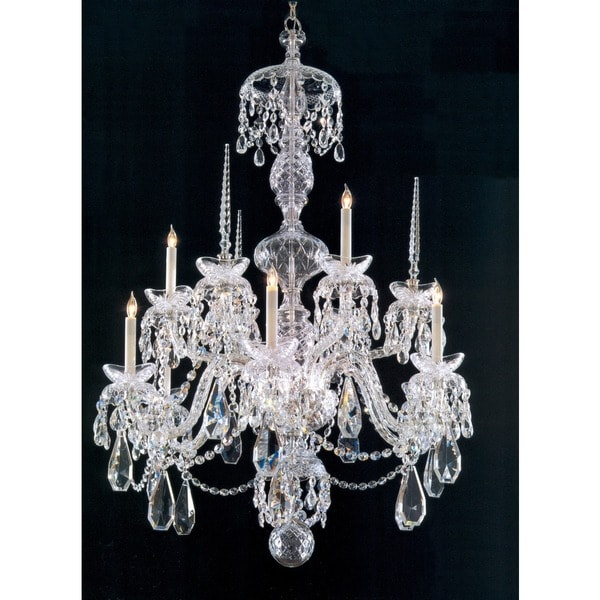 Crystorama Traditional 9-light Chrome/Crystal Chandelier