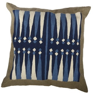 20-inch Square Embroidered Throw Pillow