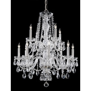 Crystorama Traditional 12-light Polished Chrome/Crystal Chandelier