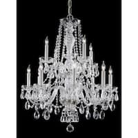 Crystorama Traditional 12-light Polished Chrome/Crystal Chandelier - Chrome