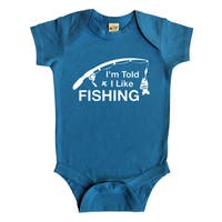 Rocket Bug I'm Told I Like Fishing Baby Bodysuit