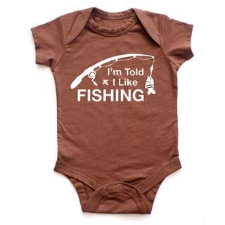 Rocket Bug I'm Told I Like Fishing Baby Bodysuit (5 options available)