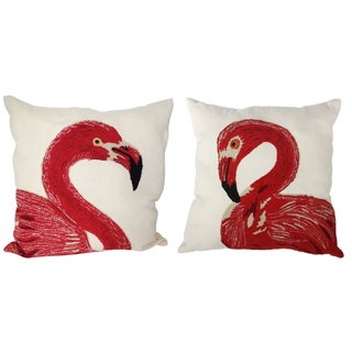 Polyester 24-inches x 24-inches Embroidered Throw Pillow (Set of 2)