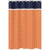 Orange And Navy Blue Arrow Shower Curtain