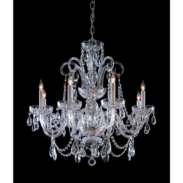 Crystorama Traditional 8-light Polished Chrome Chandelier