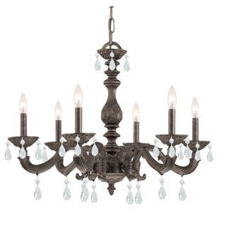 Crystorama Paris Market Collection 6-light Venetian Bronze/Crystal Chandelier