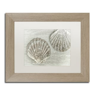 Cora Niele 'Two King Scallop Shells' Matted Framed Art