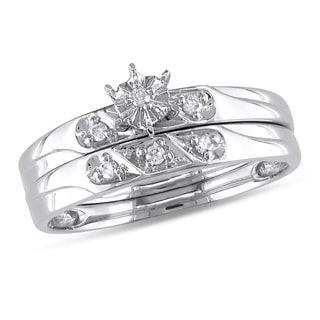 Miadora 10k White Gold Diamond Accent 2-Piece Bridal Set (G-H, I2-I3)