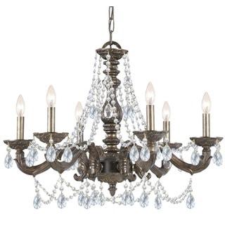 Crystorama Paris Market Collection 6-light Venetian Bronze/Swarovski Strass Crystal Chandelier