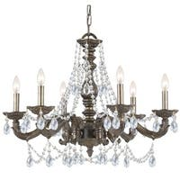 Crystorama Paris Market Collection 6-light Venetian Bronze/Swarovski Strass Crystal Chandelier