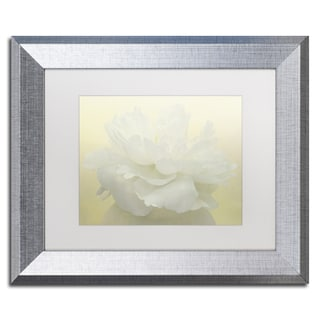 Cora Niele 'Pure White Peony' Matted Framed Art