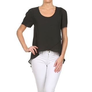 Women's Polyester Cut-out Tunic Top