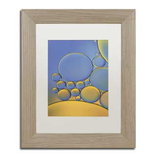 Cora Niele 'Orange and Purple Drops' Matted Framed Art