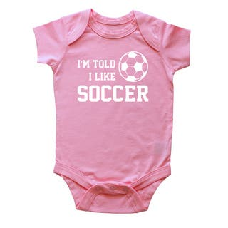 Rocket Bug I'm Told I Like Soccer Baby Bodysuit|https://ak1.ostkcdn.com/images/products/12388575/P19210448.jpg?impolicy=medium