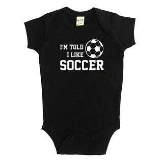 Rocket Bug I'm Told I Like Soccer Baby Bodysuit (5 options available)