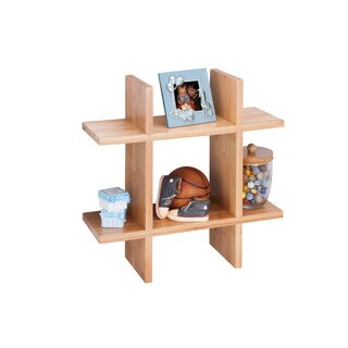 Honey-Can-Do Bamboo Grid Shaped Wall Shelf