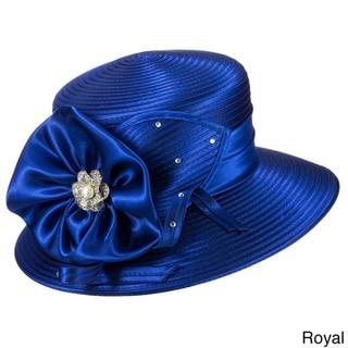 Giovanna Women's Signature Satin Flower Ribbon Hat