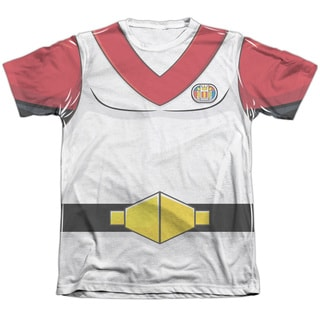 Voltron/Keith Costume Adult 65/35 Poly/Cotton Short Sleeve Tee in White