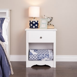 Winslow Tall White 1-drawer Nightstand