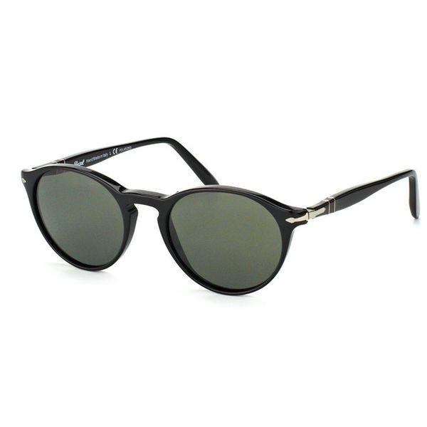 c4c6599620 Persol Men  x27 s PO3092SM Plastic Phantos Polarized Sunglasses - Black -  Large
