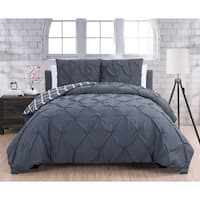 Avondale Manor Madrid Queen Size Duvet Cover 3-piece Set in Charcoal(As Is Item)