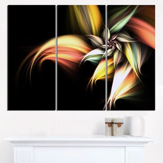 Light Orange Pink Glossy Flower - Large Floral Wall Art Canvas