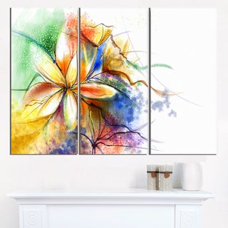 Abstract Multi-color Flower Fusion - Large Flower Canvas Wall Art