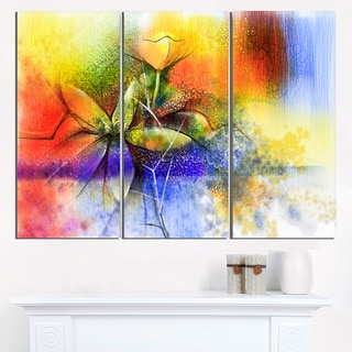 Abstract Colorful Flower Fusion - Large Flower Canvas Wall Art
