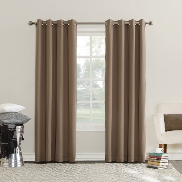 Sun Zero Emden Room Darkening Triple Lined Grommet Curtain Panel