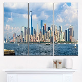 Lower Manhattan Skyline Panorama - Cityscape Artwork Canvas