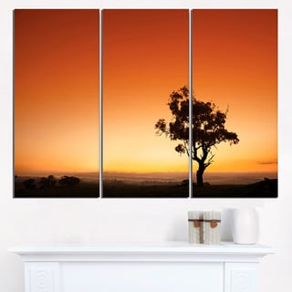 Sunrise with Lonely Tree - Extra Large Wall Art Landscape