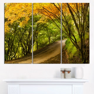 Country Lane in Green Forest - Extra Large Wall Art Landscape