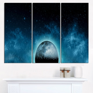 Moon In the Front of Galaxies - Extra Large Wall Art Landscape