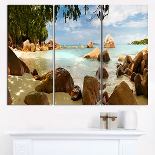 Tropical Rocky Beach Panorama - Extra Large Wall Art Landscape
