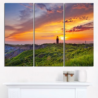 Lighthouse at Gorgeous Sunset - Extra Large Wall Art Landscape