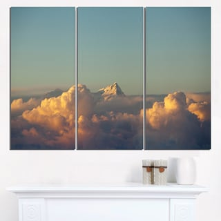 Orange Clouds Colorful Sunset in Sky - Extra Large Wall Art Landscape