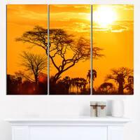 Orange Glow of African Sunset - Extra Large Wall Art Landscape