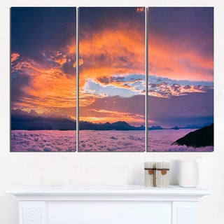 Bright Panoramic Sunset Over Sea - Extra Large Wall Art Landscape