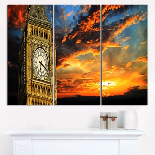 Big Ben London at Sunset Panorama - Extra Large Wall Art Landscape