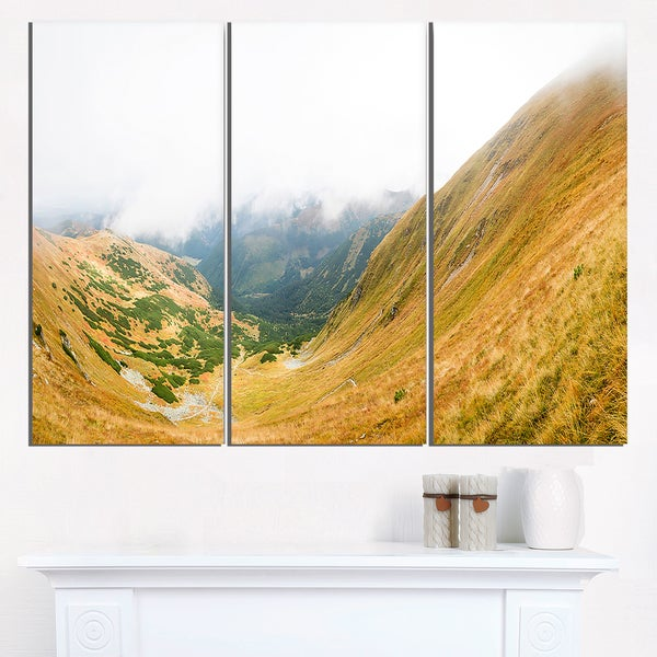 View from Volovec at Tatras - Landscape Wall Art Canvas Print ...