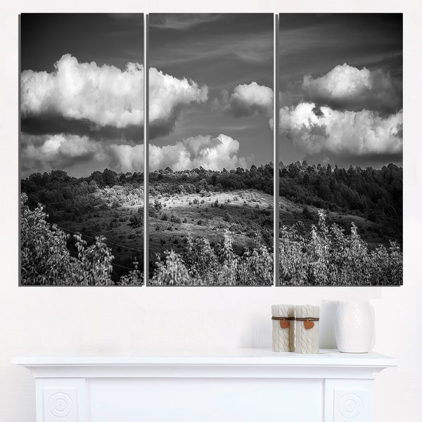 Green Hills under Cloudy Sky - Extra Large Wall Art Landscape