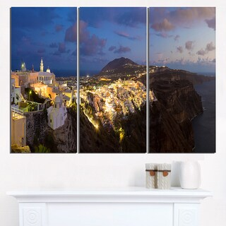 Thira Santorini Greece Panorama - Landscape Print Wall Artwork