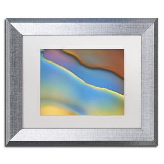 Cora Niele 'Blue Flow' Matted Framed Art