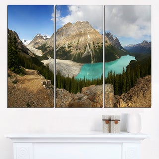 Peyto Lake Glacial Panorama - Landscape Print Wall Artwork
